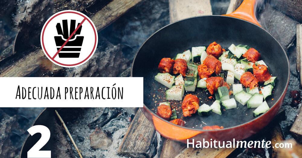 adecuada preparación culinaria