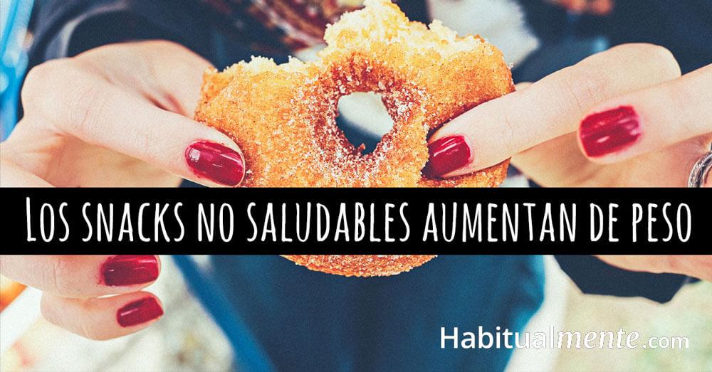 los snacks saludables contribuyen al aumento de peso