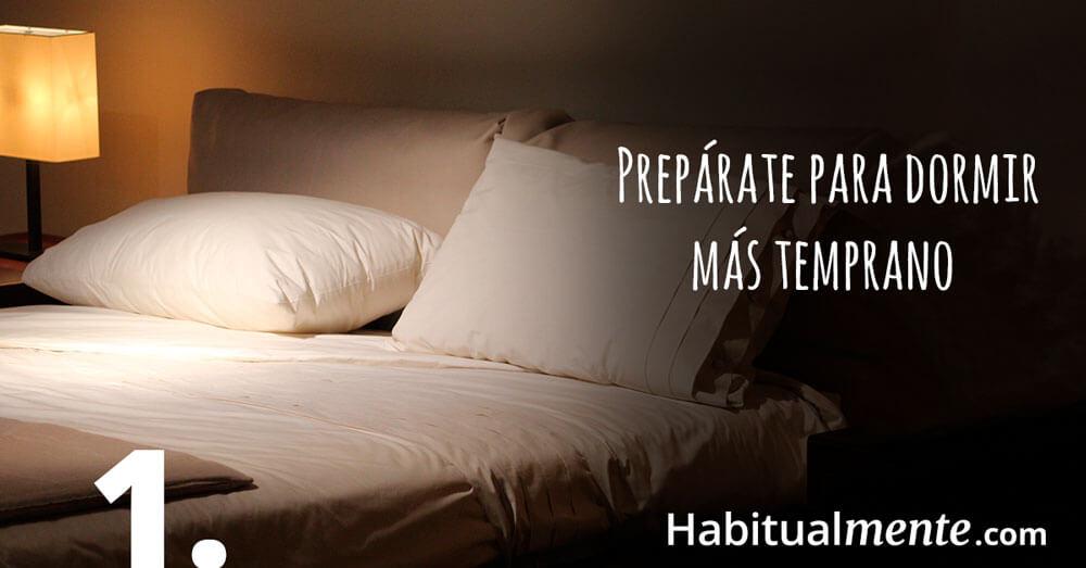 Prepárate para ir a dormir más temprano