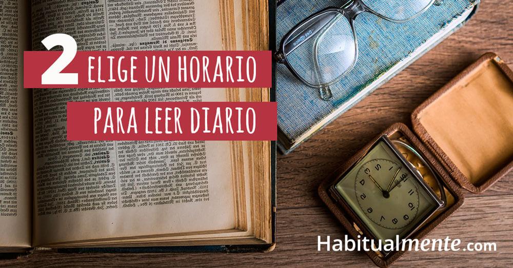 elige un horario para leer