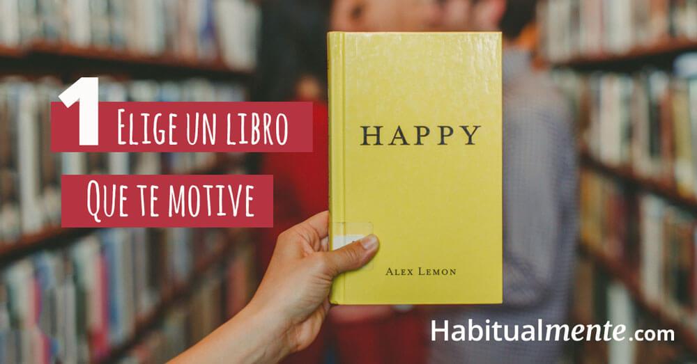 Elige un libro que te motive