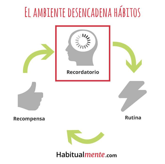 el ambiente desencadena hábitos