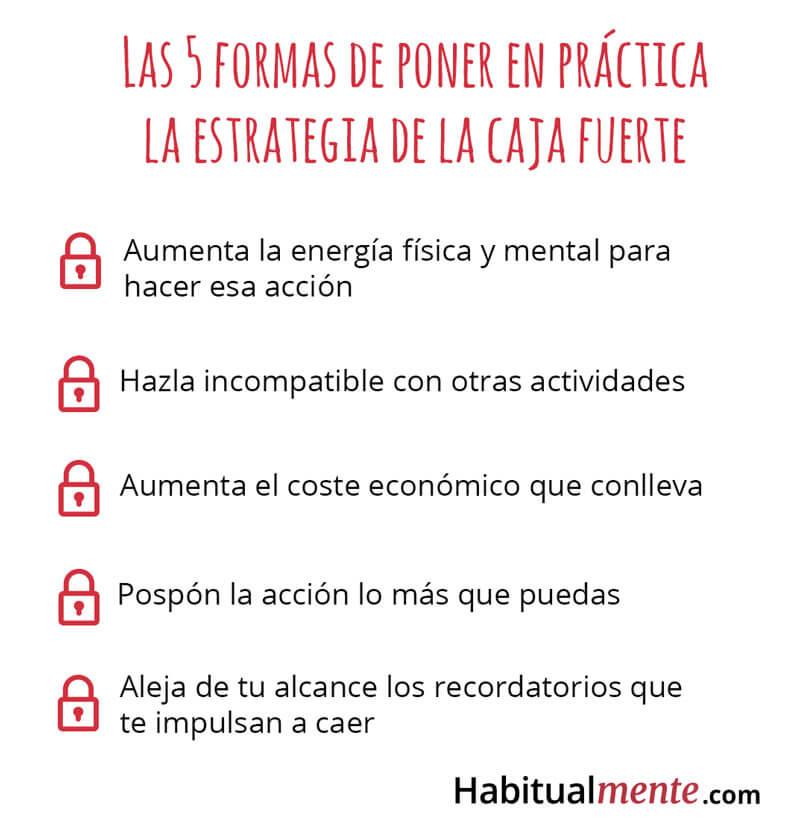 las 5 formas de poner en practica la estrategia de la caja fuerte