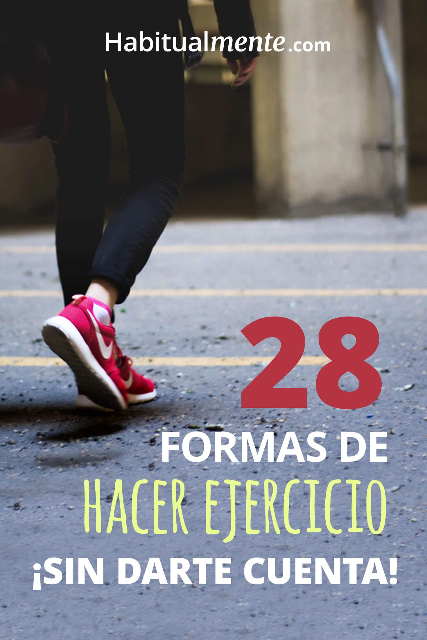 Infografía: 28 formas de hacer ejercicio sin darte cuenta