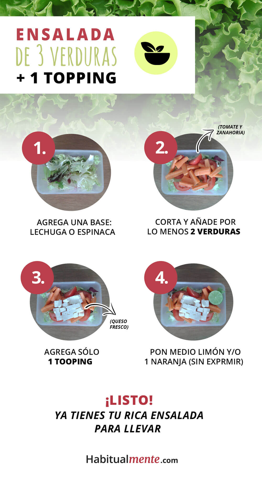 ensalada de 3 ingredientes