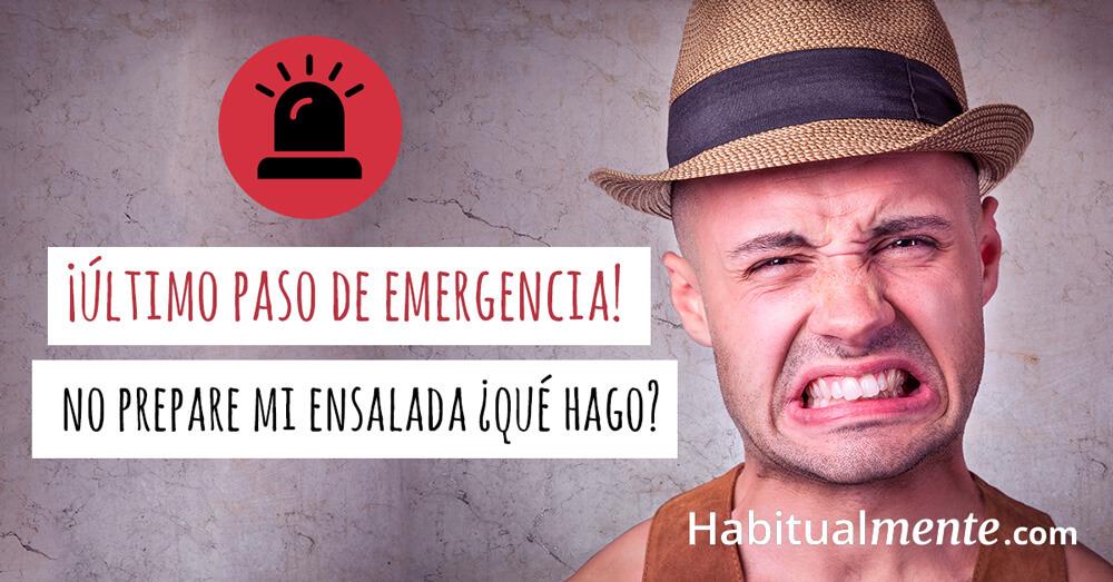 último paso de emergencia