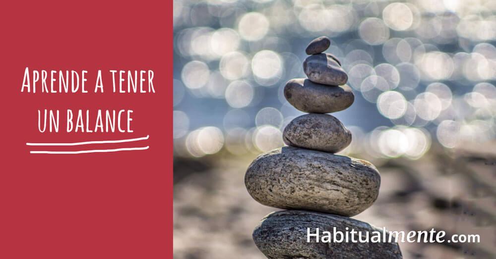 aprende a tener un balance