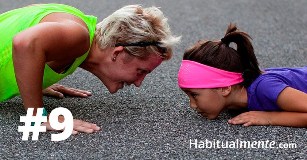 hacer ejercicio y ser constante
