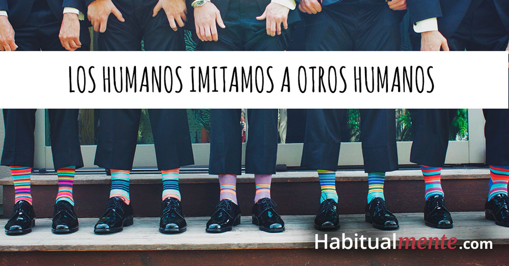 los humanos imitamos a otros humanos