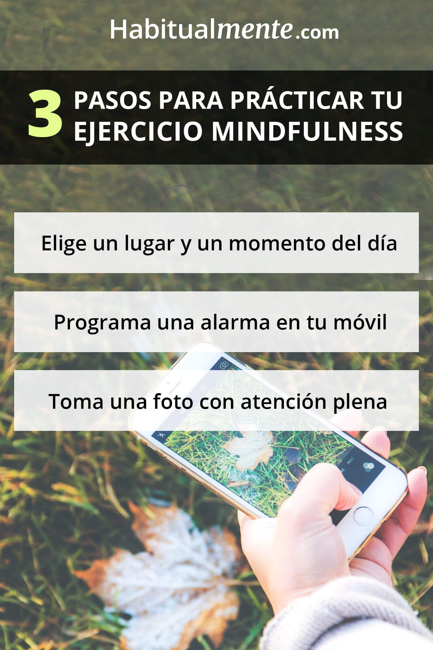 Ejercicio mindfulness de 3 pasos